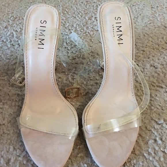 Simmi Shoes - Brand New Clear Nude Heels Sz 7